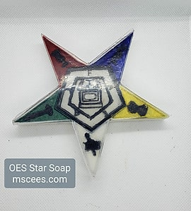 O.E.S. Five Color Star Soap- Large